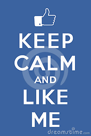 Free Keep Calm And Like Me Stock Photography - 24533122
