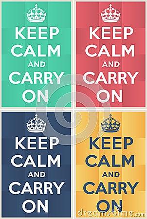 Keep calm and carry on mockup