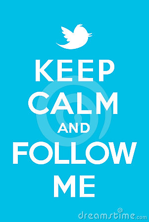 Keep calm and follow me Editorial Image