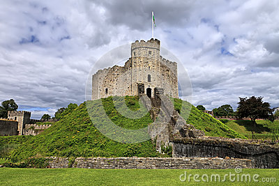 The keep of Cardiff Castle in Wales, United Kingdom