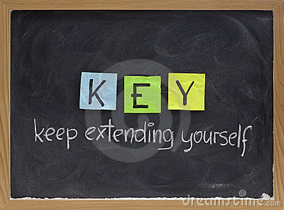 Keep extending yourself - motivation acronym