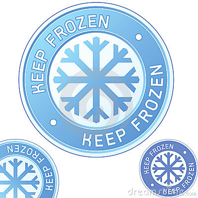 Free Keep Frozen Food Packaging Label Badge Stock Images - 9196224