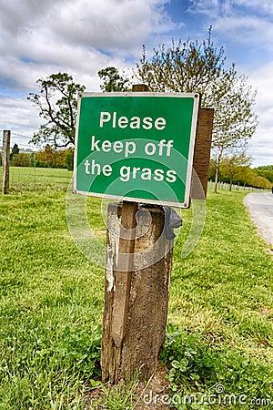 Keep Off Grass