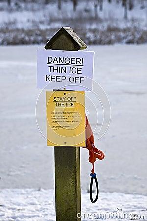 Keep off the ice