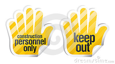 Keep out palm stikers