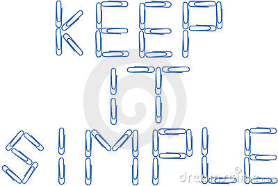 Keep it simple blue paper clips
