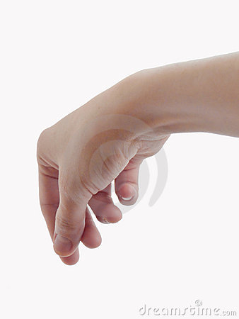 Keeping finger of the hand