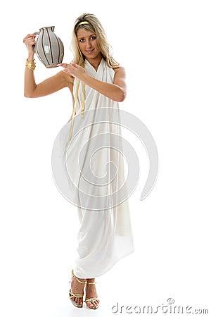 Keeps a jug. Ancient Greek concept.