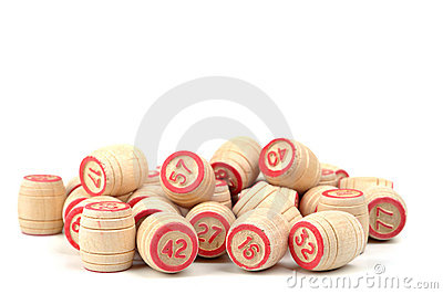 Kegs for game Stock Photo