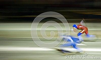 Keizergracht Ice Skating Race Editorial Stock Photo