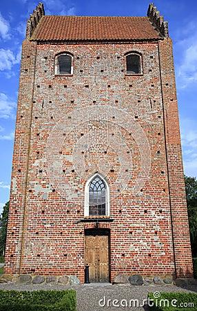 Keldby church in Mon island
