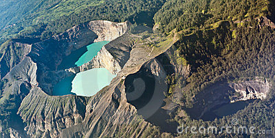 Kelimutu colored lakes, Indonesia
