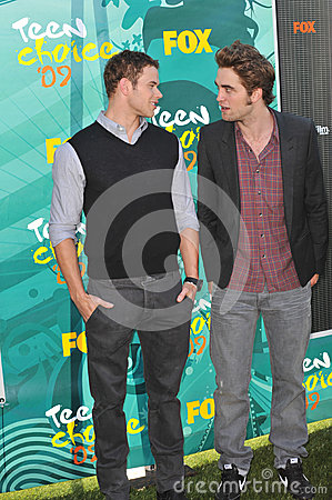 Kellan Lutz,Robert Pattinson Editorial Stock Image