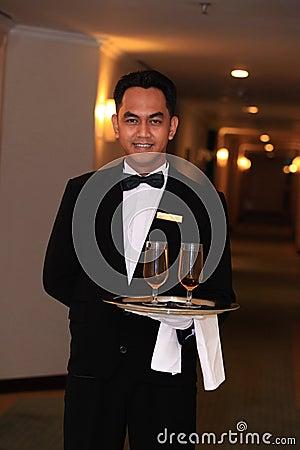 Kellner oder Butler