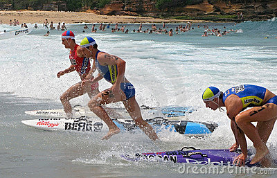 Kelloggs Nutri-Grain Surf Ironman competition Editorial Stock Image