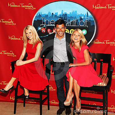 Kelly Ripa unveils wax figure of herself Editorial Photo