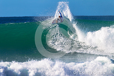 Kelly Slater Jeffreys Bay Surfing Editorial Stock Image