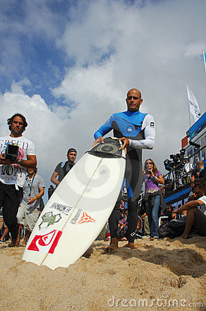 Kelly Slater(USA) in Rip Curl Pro Portugal Editorial Stock Image