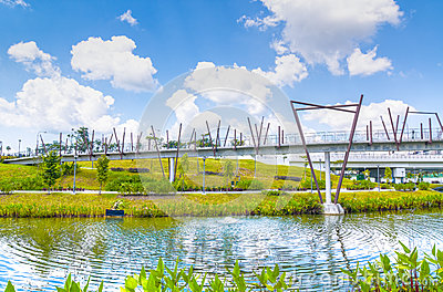 Kelong Bridge, Punggol Waterway, Singapore