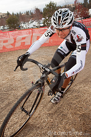 Kelsy Bingham  - Pro Woman Cyclocross Racer Editorial Stock Image