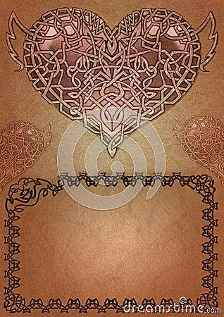 Keltische valentijnskaart