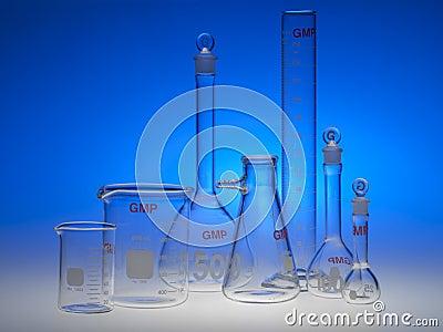 Kemisk glasföremål