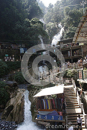 Kempty Falls Waterfall Mussoorie in India Editorial Photography
