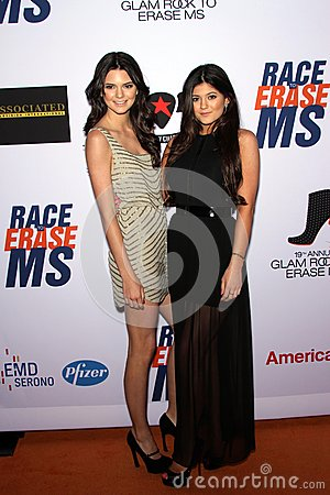 Kendall Jenner and Kylie Jenner at the 19th Annual Race To Erase MS, Century Plaza, Century City, CA 05-19-12 Editorial Photo