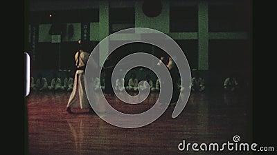 Kendo Fighting Performance stock videobeelden
