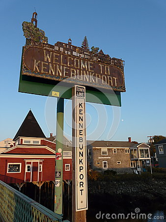 Kennebunkport sign Editorial Stock Photo
