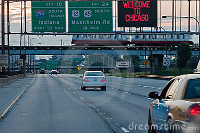 Kennedy Expressway Chicago Editorial Photography