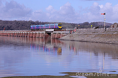 Kent viaduct at Arnside Editorial Stock Photo