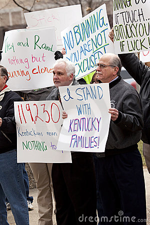 Kentuckians against Senator Bunning Editorial Stock Photo