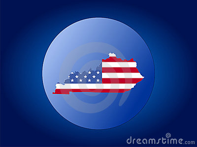 Kentucky flag globe