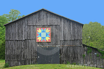 Kentucky Quilt Barn Stock Photo Image 19771120
