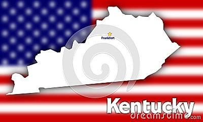 Kentucky state contour