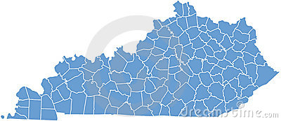 Kentucky State map  by counties