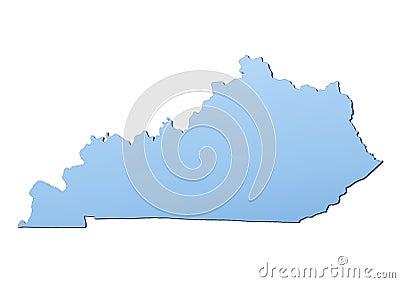Kentucky(USA) map