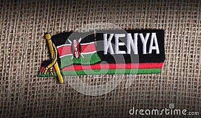 Kenya flag.