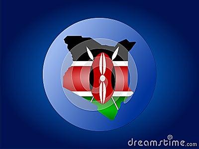 Kenya globe illustration