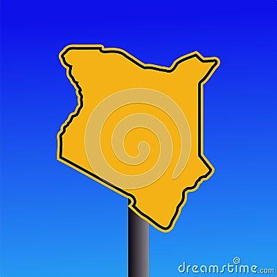 Kenya map warning sign