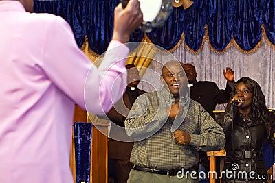 Kenyan American gospel service Editorial Stock Image