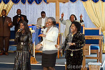 Kenyan American gospel singers Editorial Stock Image