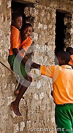 Kenyan Teens,african school Editorial Stock Photo