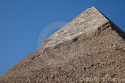 Keops pyramid top limestone cover