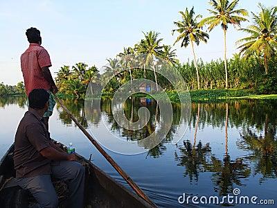 Kerala Backwaters, India Editorial Photo
