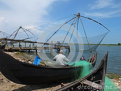 Kerala Backwaters, India Editorial Stock Photo