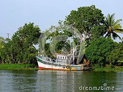 Kerala Backwaters, India Editorial Stock Photo