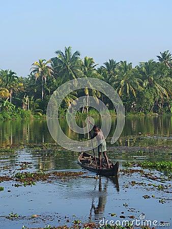Kerala Backwaters, India Editorial Stock Image