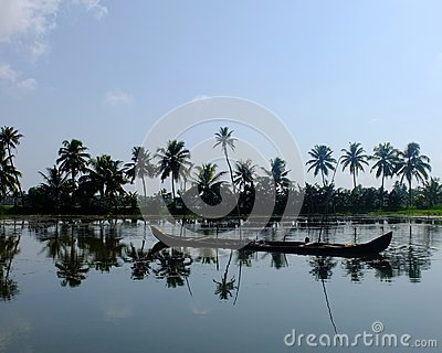 Kerala Backwaters, India Editorial Stock Image